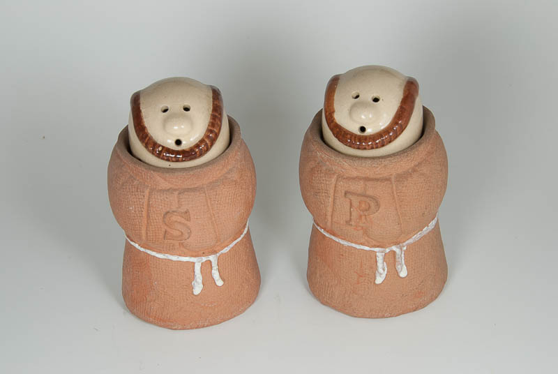 Monk Salt and Pepper Shakers